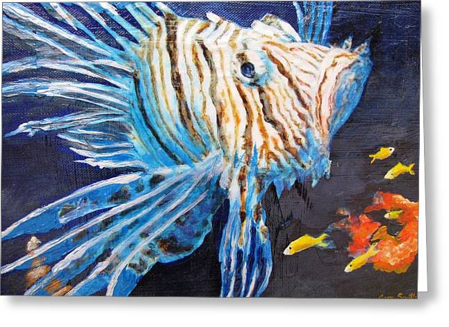 Lion Of The Sea 2 Greeting Card