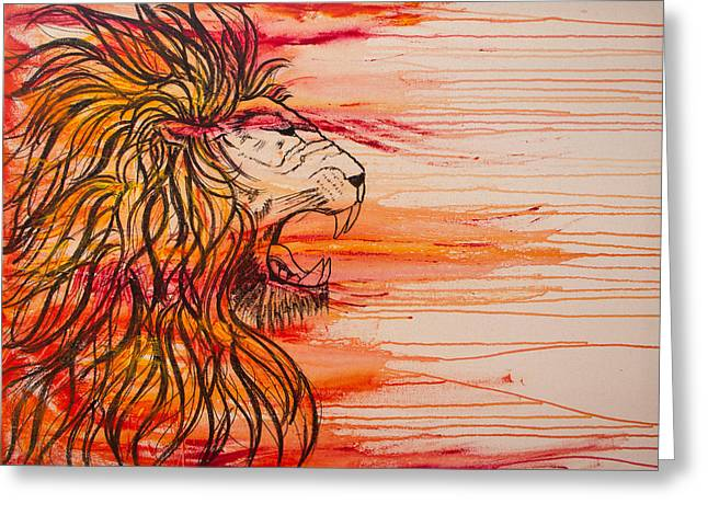 Lion Of The Tribe Of Judah Greeting Card by Jill Wyckoff