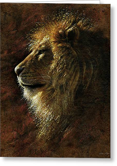 Lion Portrait - His Majesty Greeting Card
