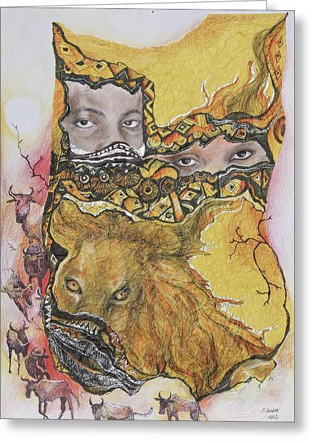 Lion Power Greeting Card