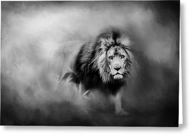 Lion - Pride Of Africa 3 - Tribute To Cecil In Black And White Greeting Card by Michelle Wrighton