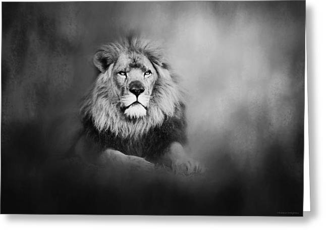 Lion - Pride Of Africa I - Tribute To Cecil In Black And White Greeting Card