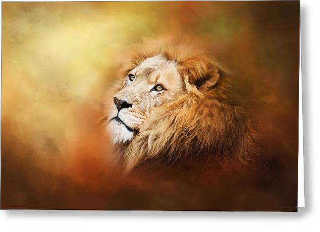 Lion - Pride Of Africa II - Tribute To Cecil Greeting Card by Michelle Wrighton