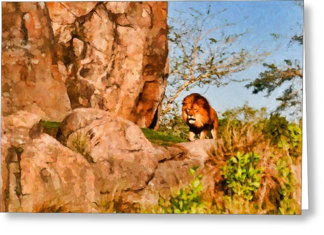 Lion Pride Greeting Card by Paul Bartoszek