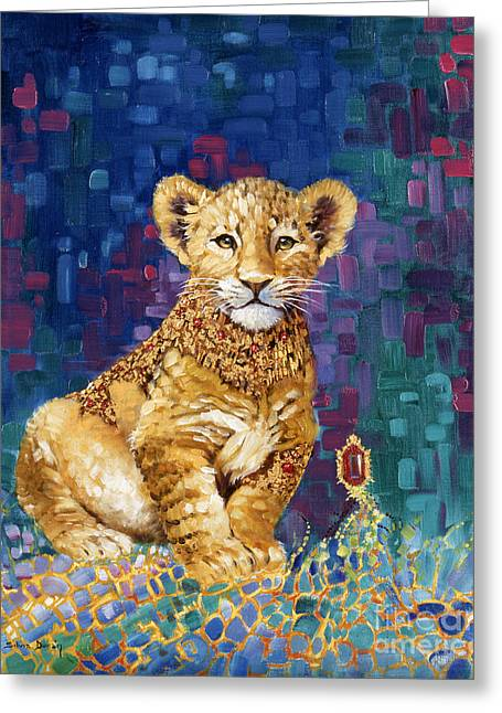 Lion Prince Greeting Card by Silvia  Duran