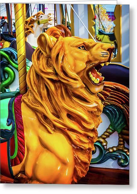 Lion Ride Greeting Card