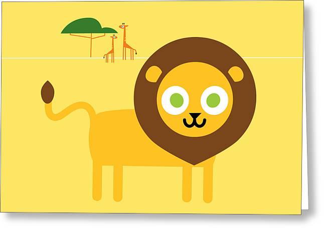 Lion Savanna Greeting Card by Pbs Kids