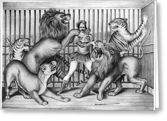 Lion Tamer, 1873 Greeting Card
