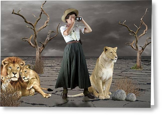 Lion Whisperer Greeting Card