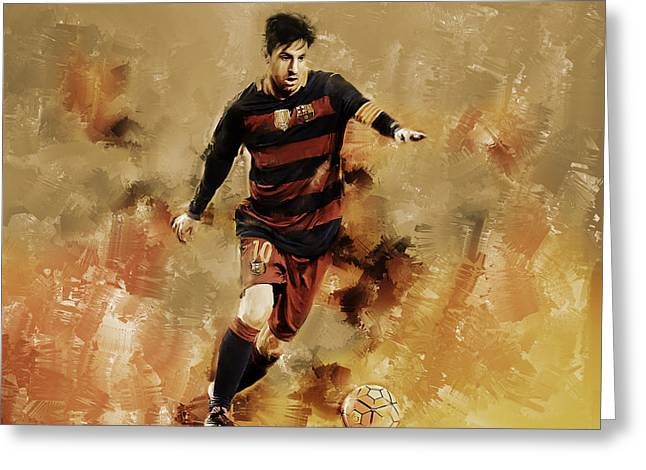 Lionel Messi 01 Greeting Card by Gull G