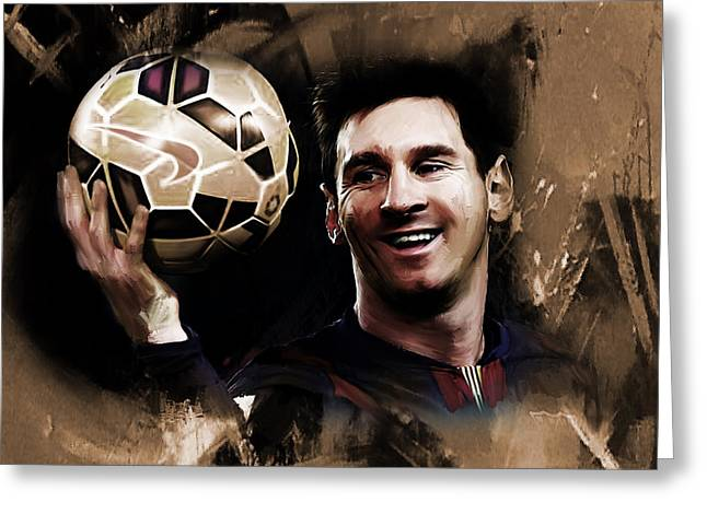 Lionel Messi 032a Greeting Card by Gull G