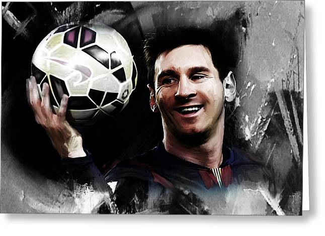 Lionel Messi 03c Greeting Card by Gull G