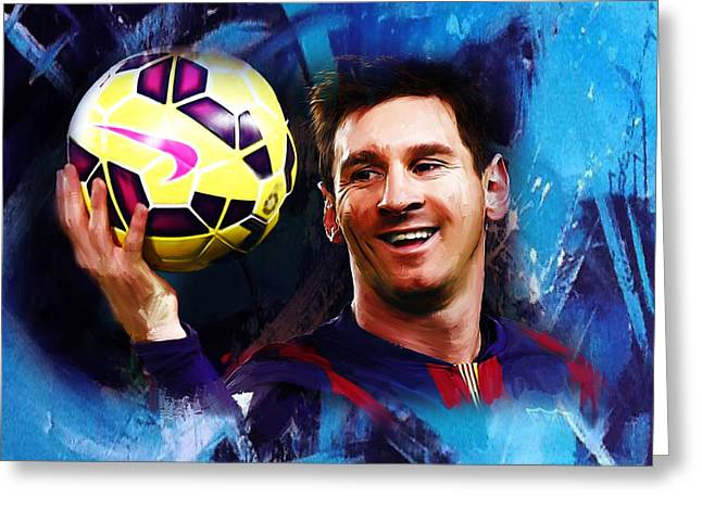 Lionel Messi 03d Greeting Card by Gull G
