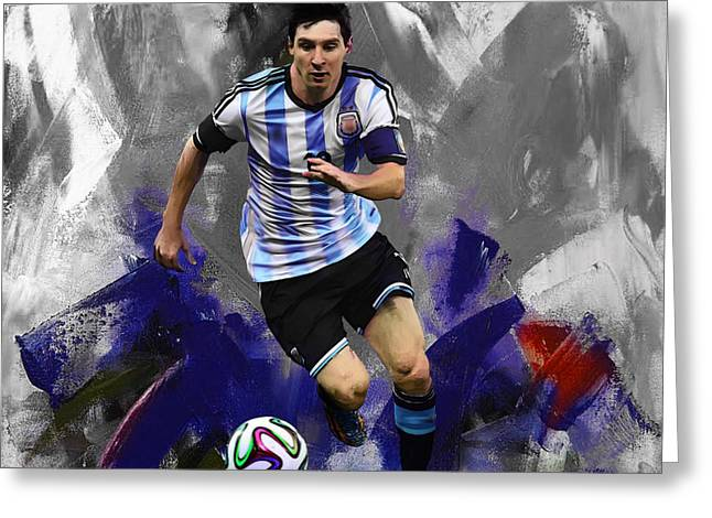Lionel Messi 094a Greeting Card
