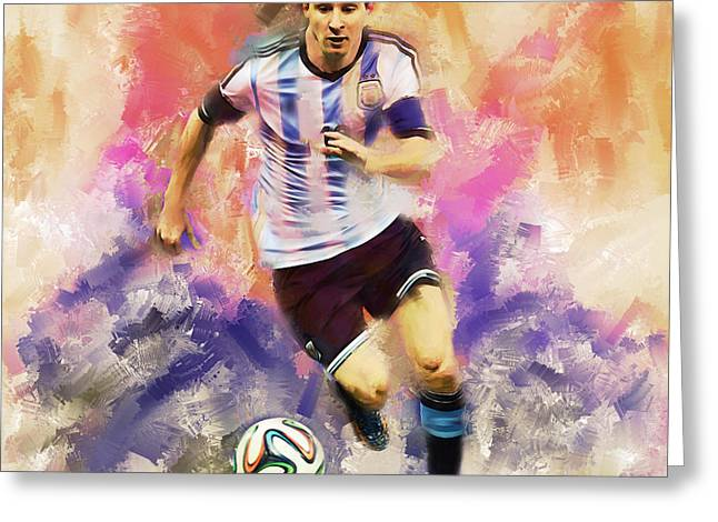 Lionel Messi 094c Greeting Card by Gull G