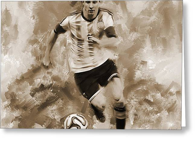 Lionel Messi 094f Greeting Card by Gull G