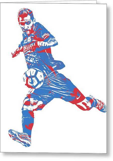 Lionel Messi F C Barcelona Argentina Pixel Art 2 Greeting Card