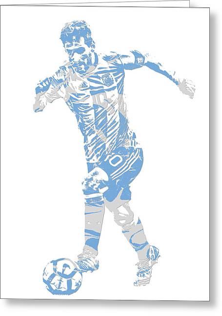 Lionel Messi F C Barcelona Argentina Pixel Art 4 Greeting Card