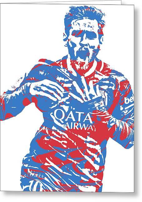 Lionel Messi F C Barcelona Argentina Pixel Art 5 Greeting Card