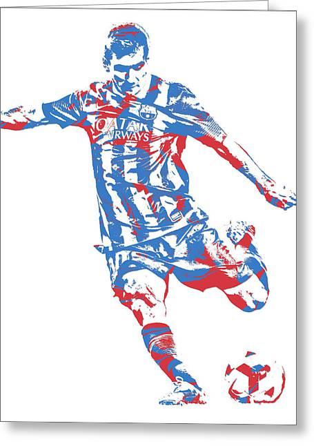 Lionel Messi F C Barcelona Argentina Pixel Art 6 Greeting Card
