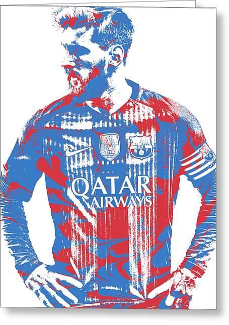 Lionel Messi F C Barcelona Argentina Pixel Art 7 Greeting Card