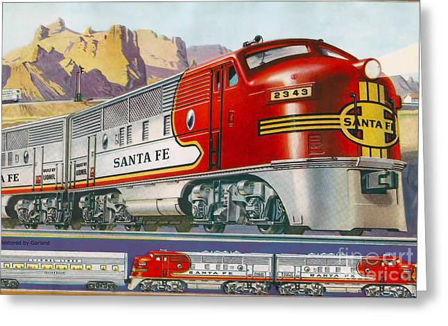 Lionel Train Catalog  Greeting Card by Garland Johnson