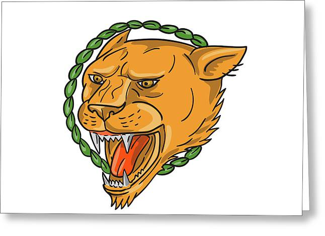 Tattoo greeting cards page 18 of 100 fine art america lioness growling ring leaves tattoo greeting card m4hsunfo