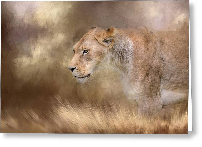 Lioness In Spring Greeting Card