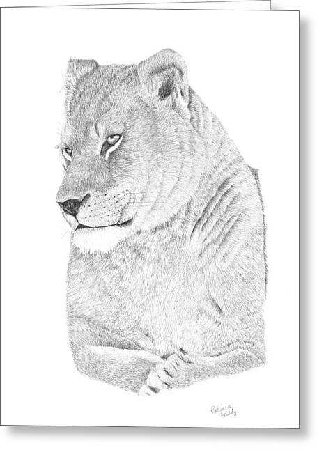 Lioness Greeting Card by Patricia Hiltz