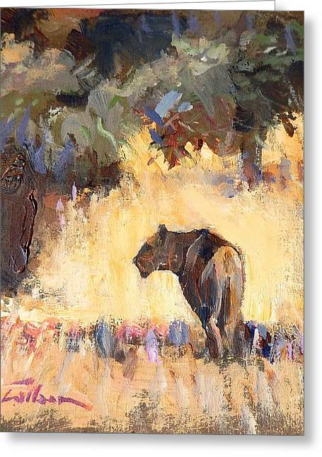 Lioness Stalking Greeting Card by Ron Wilson