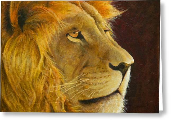 Lion's Gaze Greeting Card