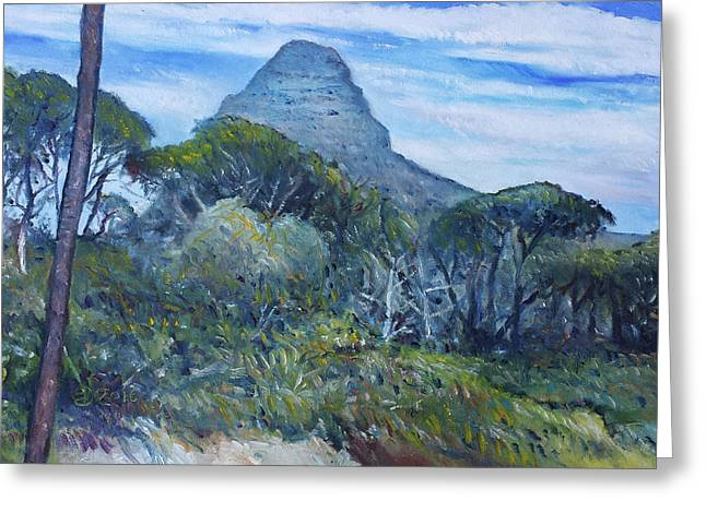 Lions Head Cape Town South Africa 2016 Greeting Card by Enver Larney