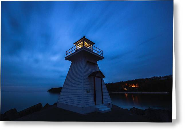 Lions Head Lighthouse Greeting Card by Cale Best