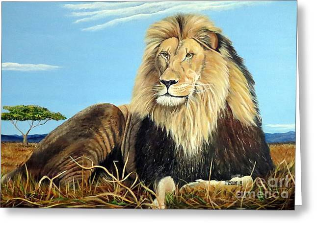Lions Pride Greeting Card by Marilyn McNish
