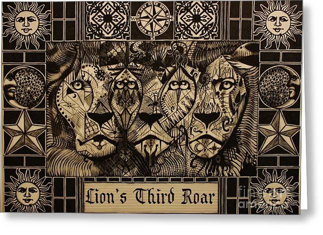 Lion's Third Roar Greeting Card