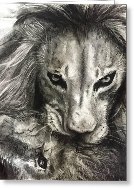 Lion's World Greeting Card