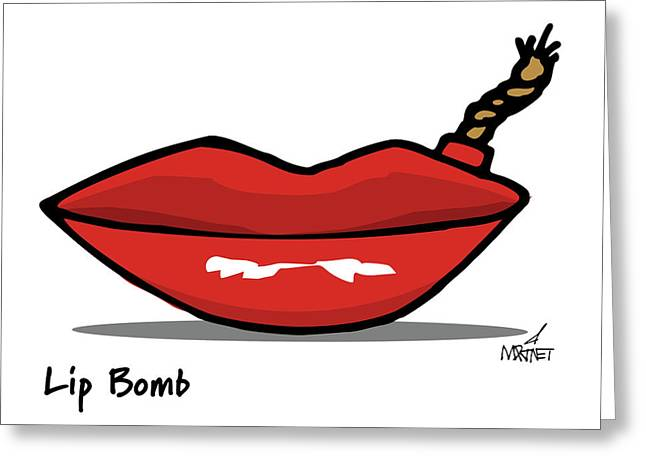 Lip Bomb Greeting Card