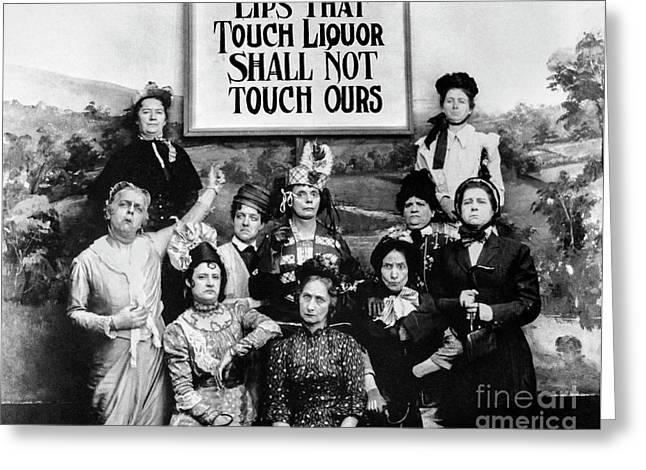 Lips That Touch Liqour Shall Not Touch Ours Greeting Card by Jon Neidert