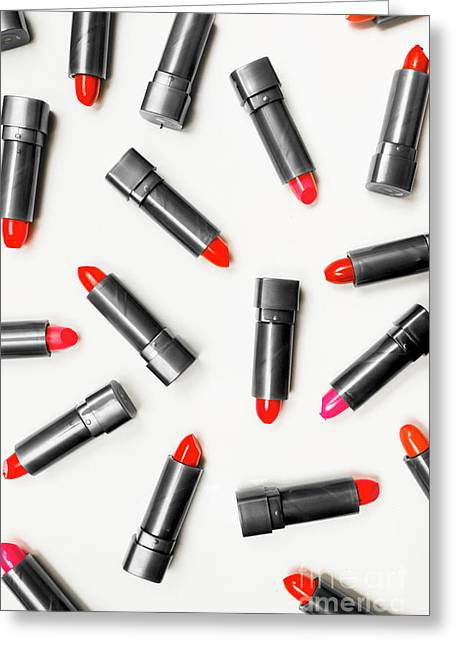 Lipstick Makeup In Abstract Greeting Card