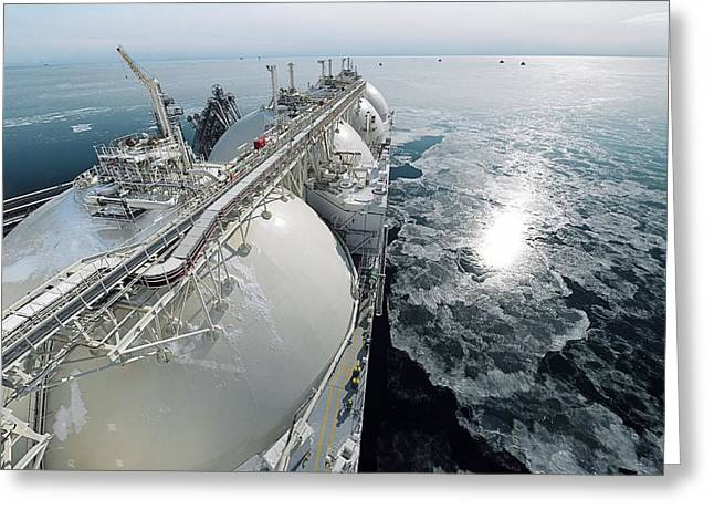 Liquefied Natural Gas Tanker Greeting Card by Ria Novosti