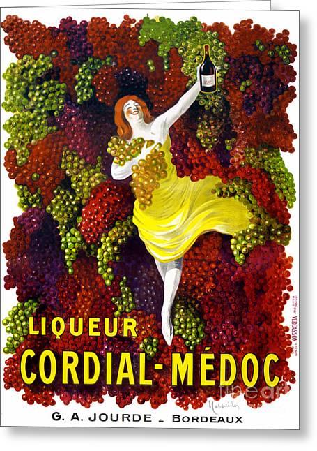 Liquer Cordial-medoc Vintage Poster Restored Greeting Card by Carsten Reisinger