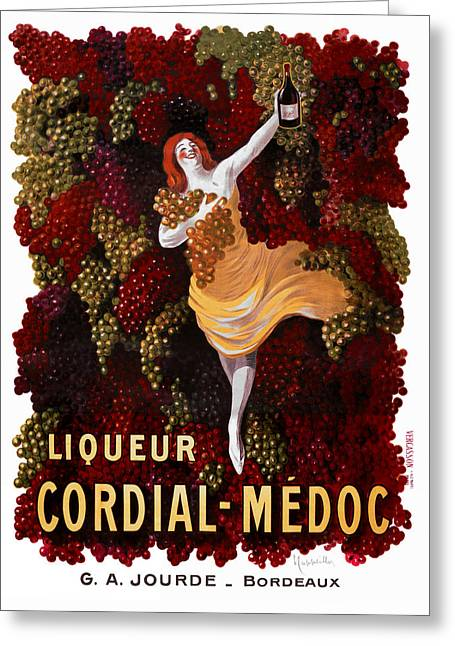 Liqueur Cordial-medoc - Paris 1908 Greeting Card by Daniel Hagerman