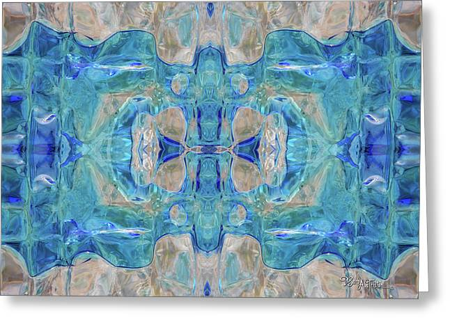 Greeting Card featuring the digital art Liquid Abstract  #0060-1 by Barbara Tristan