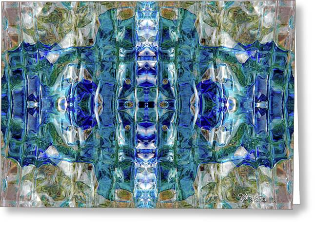 Greeting Card featuring the digital art Liquid Abstract #0061-2 by Barbara Tristan
