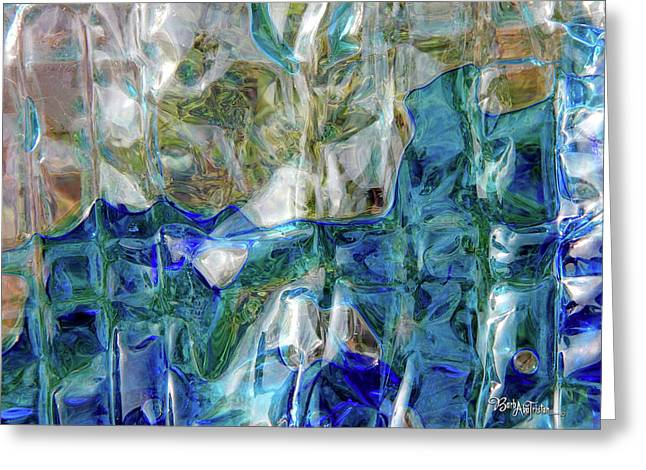 Greeting Card featuring the photograph Liquid Abstract #0061 by Barbara Tristan