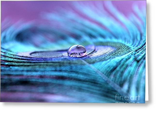 Liquid Bliss Greeting Card by Krissy Katsimbras