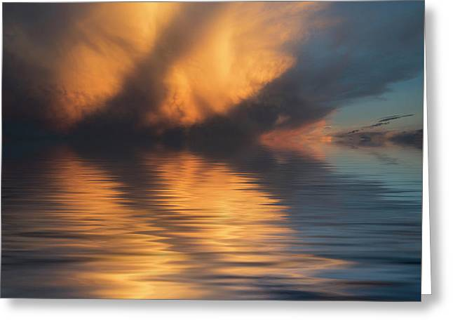 Liquid Cloud Greeting Card by Jerry McElroy