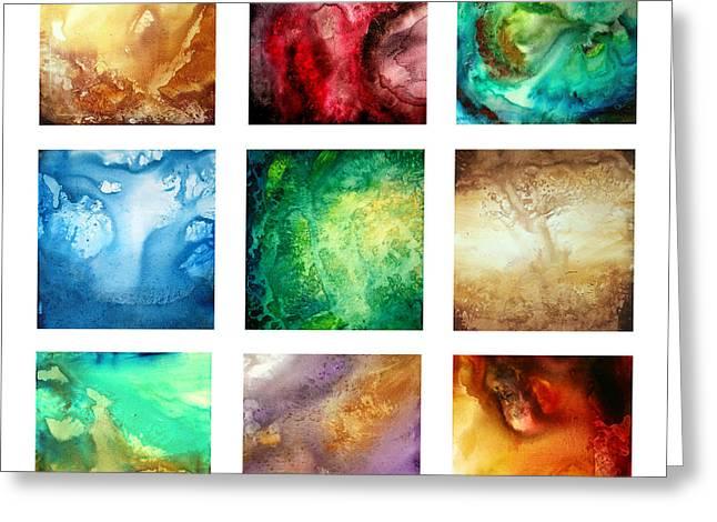 Liquid Color I By Madart Greeting Card