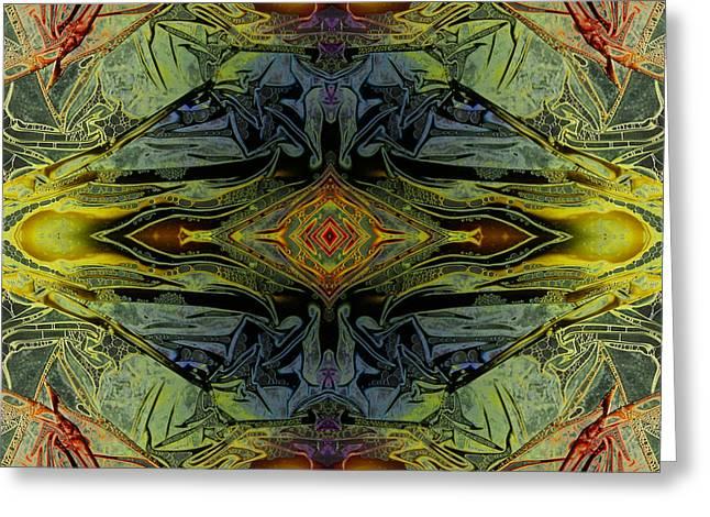 Liquid Decalcomania Mirror Greeting Card by Otto Rapp