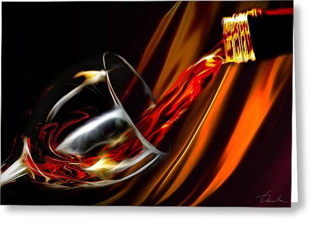 Liquid Gold Greeting Card by Danuta Bennett